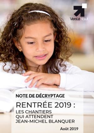 Note Rentrée scolaire 2019